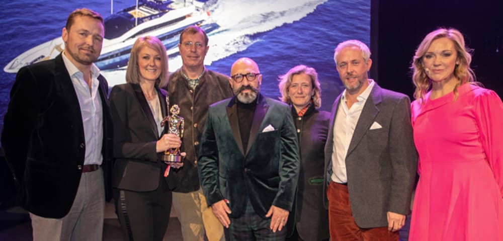 Stunning IRISHA Wins Best Exterior Styling - Motor Yachts 40m to 59m