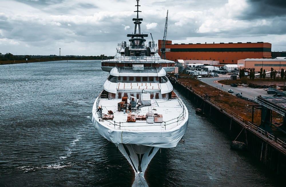 140m Lürssen Superyacht REDWOOD Enters Final Construction Stage