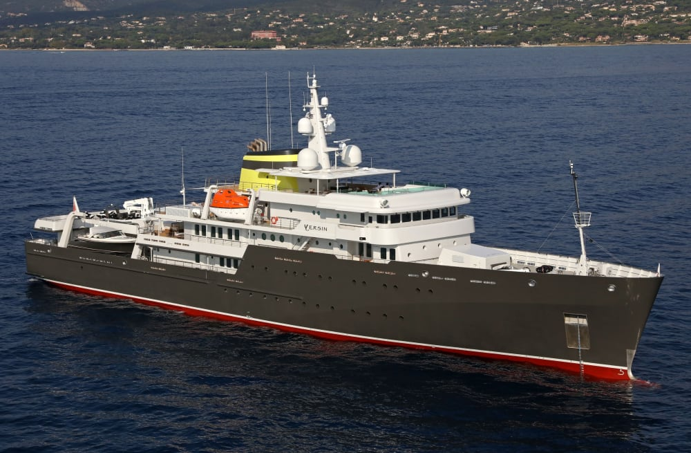 76.6m Expedition Vessel YERSIN New to the Charter Market